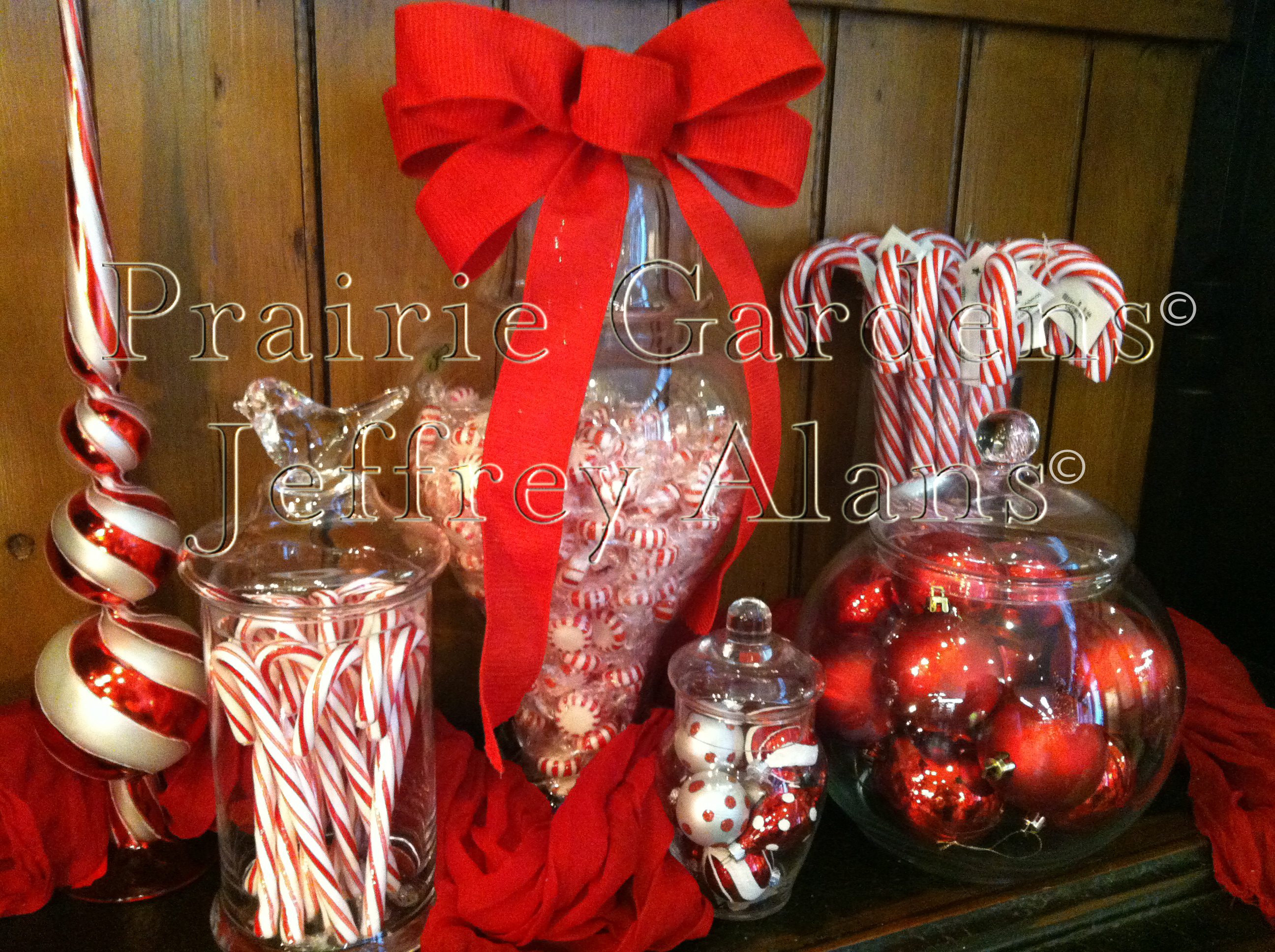 at - Christmas Candy Jar Decorations